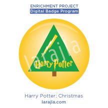 Badge: Harry Potter - Christmas