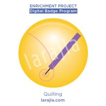 Badge: Quilling
