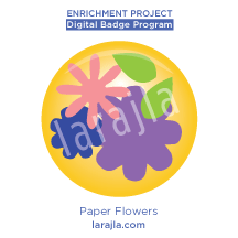 Badge: Paper Flowers