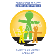 Badge: Super-Size Games