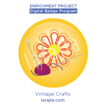 Badge: Vintage Crafts